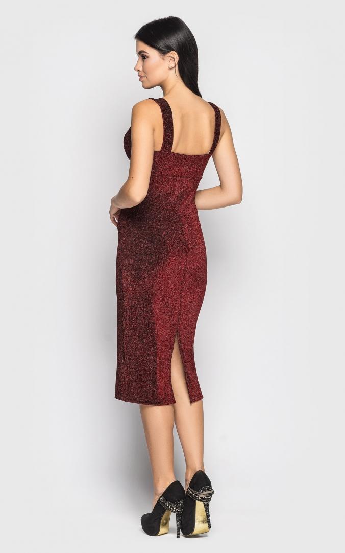 Платье миди (красное)