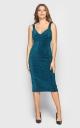 Платье миди (зеленое)