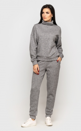 Warm suit with angora (gray)