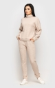Warm knitted suit (cream)