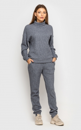 Warm knitted suit (dark-grey)