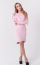 Stylish suede dress (pink)