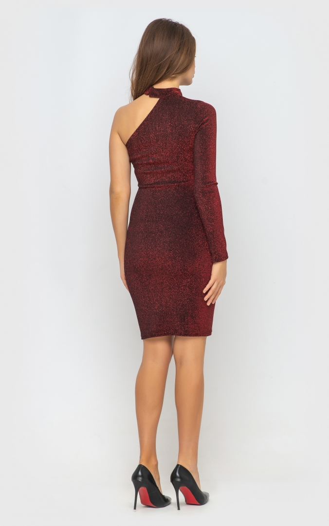 Сукня з одним рукавом (червона)