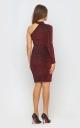 Платье с одним рукавом (красное)