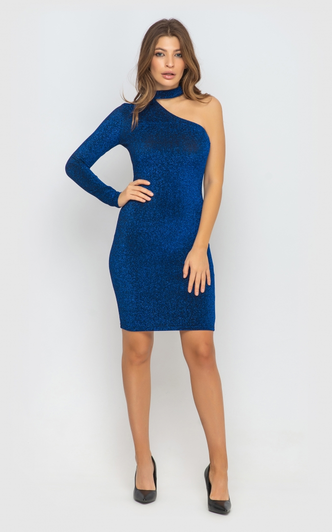 Dress with one sleeve (red)
