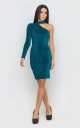 Dress with one sleeve (emerald)