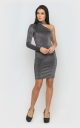 Dress with one sleeve (gray)