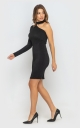 Dress with one sleeve (black)