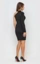Платье с одним рукавом (черное)