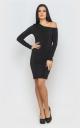 Платье облегающее (черное)