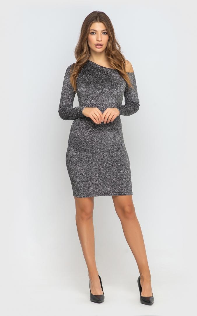 Платье облегающее (серое)