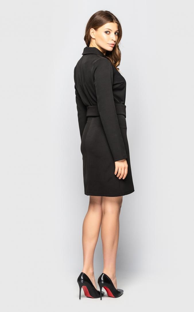 Платье-пиджак (черное)