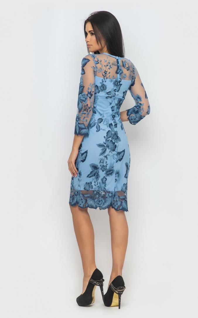 Вечернее платье (синее)