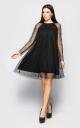 Платье в мелкий горошек (черное)