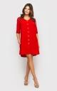 Платье на пуговицах (красное)