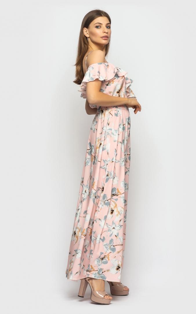 Легкое летнее платье (розовое)