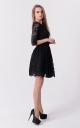 Праздничное гипюровое платье (черное)