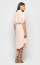 Платье свободного кроя (пудровое)