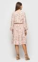 Романтичное платье с завязками (розовое)
