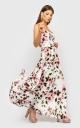 Витончене плаття на бретелях (біле з квітами)