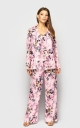 Summer three-piece suit (pink print)