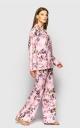Летний костюм тройка(розовый принт)