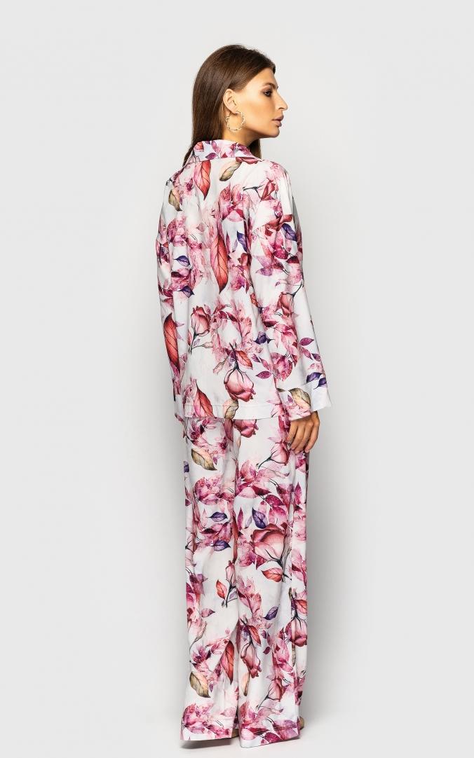 Summer three-piece suit (white print)