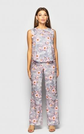 Легкий комбінезон з брюками (квіти)