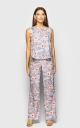 Light jumpsuit with trousers (flowers)
