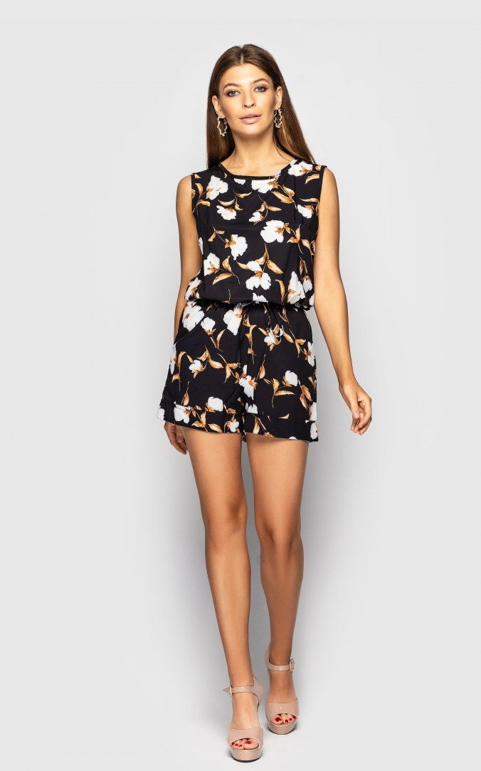 Jumpsuit with shorts(flowers)