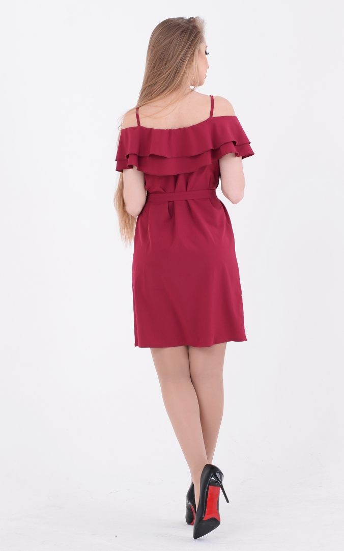 Refined sundress (burgundy)