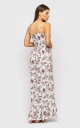 Sundress with straps with a slit (white)