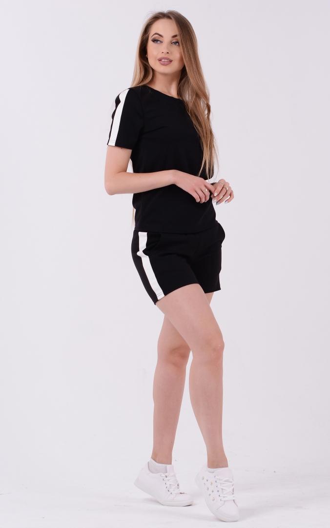 Літній костюм-двійка (чорний)