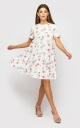 Dress in a floral print (white)