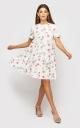 Платье цветочный принт (белое)