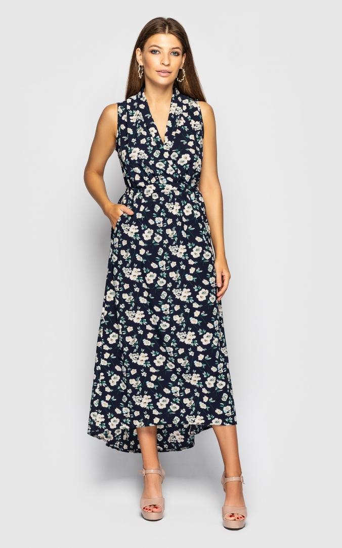 Платье с V-образным вырезом(черное)