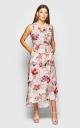 Сукня з V-подібним вирізом (сіре)