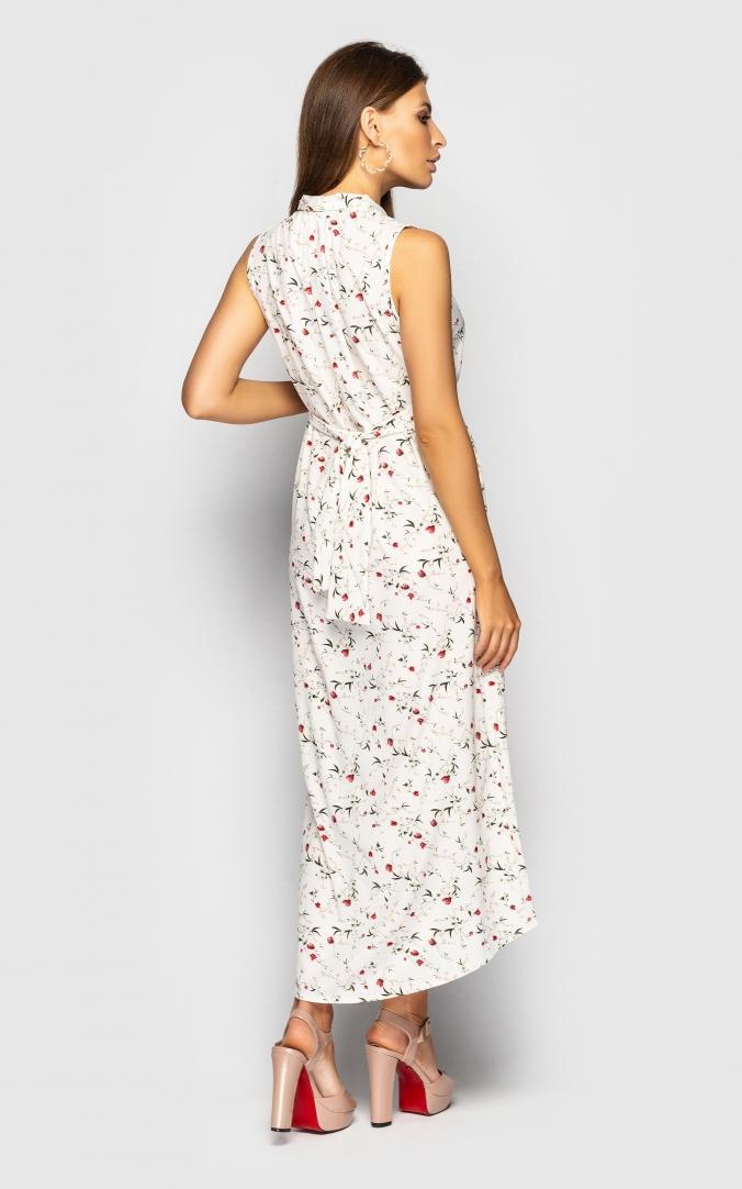 Сукня з V-подібним вирізом (біле)
