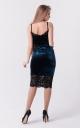 Combined velvet dress (black)