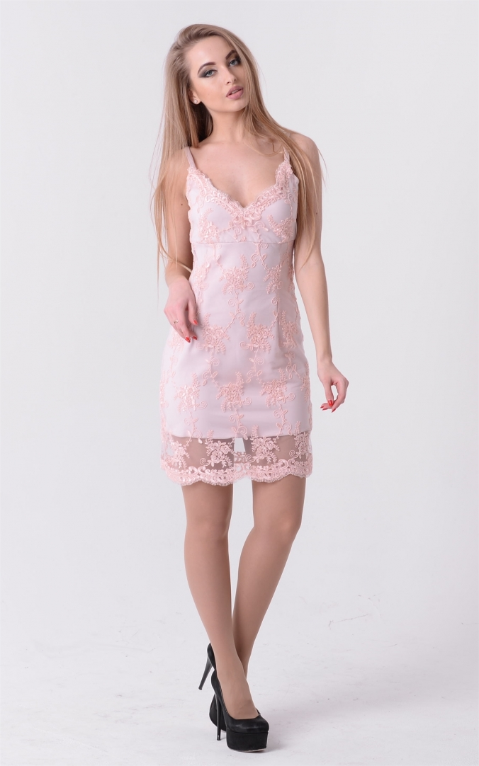 Cocktail embroidered dress