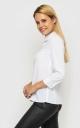 Fashionable short blouse (white)