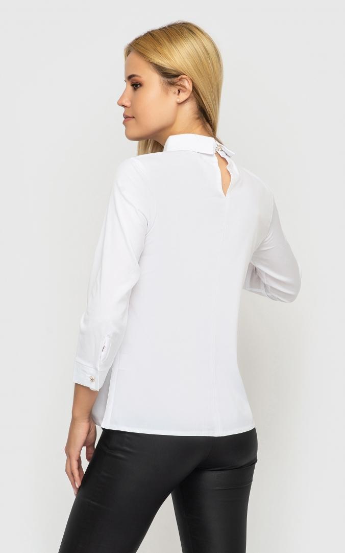 Модная короткая блузка (белая)