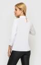 Модна коротка блуза (біла)