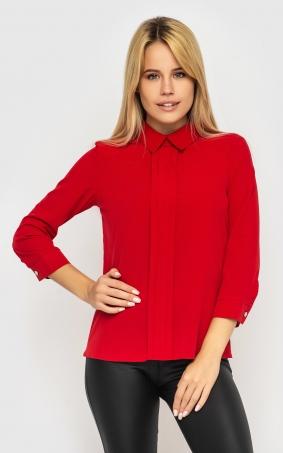 Модна коротка блуза (червона)