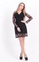 Elegant embroidered dress (black)