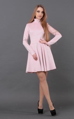 Расклешенное замшевое платье