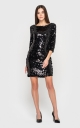 Feminine mini dress (black)