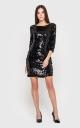 Жіночна сукня-міні (чорна)