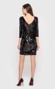 Женственное платье-мини (черное)