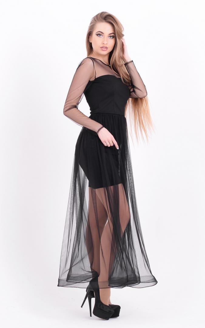 Long dress-mesh